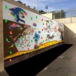 Muestra de mural en colegio