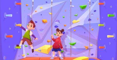 La escalada para niños